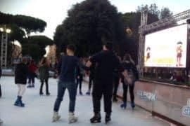 Roma: una pista di pattinaggio ha regalato divertimento e sorrisi ai nostri bambini
