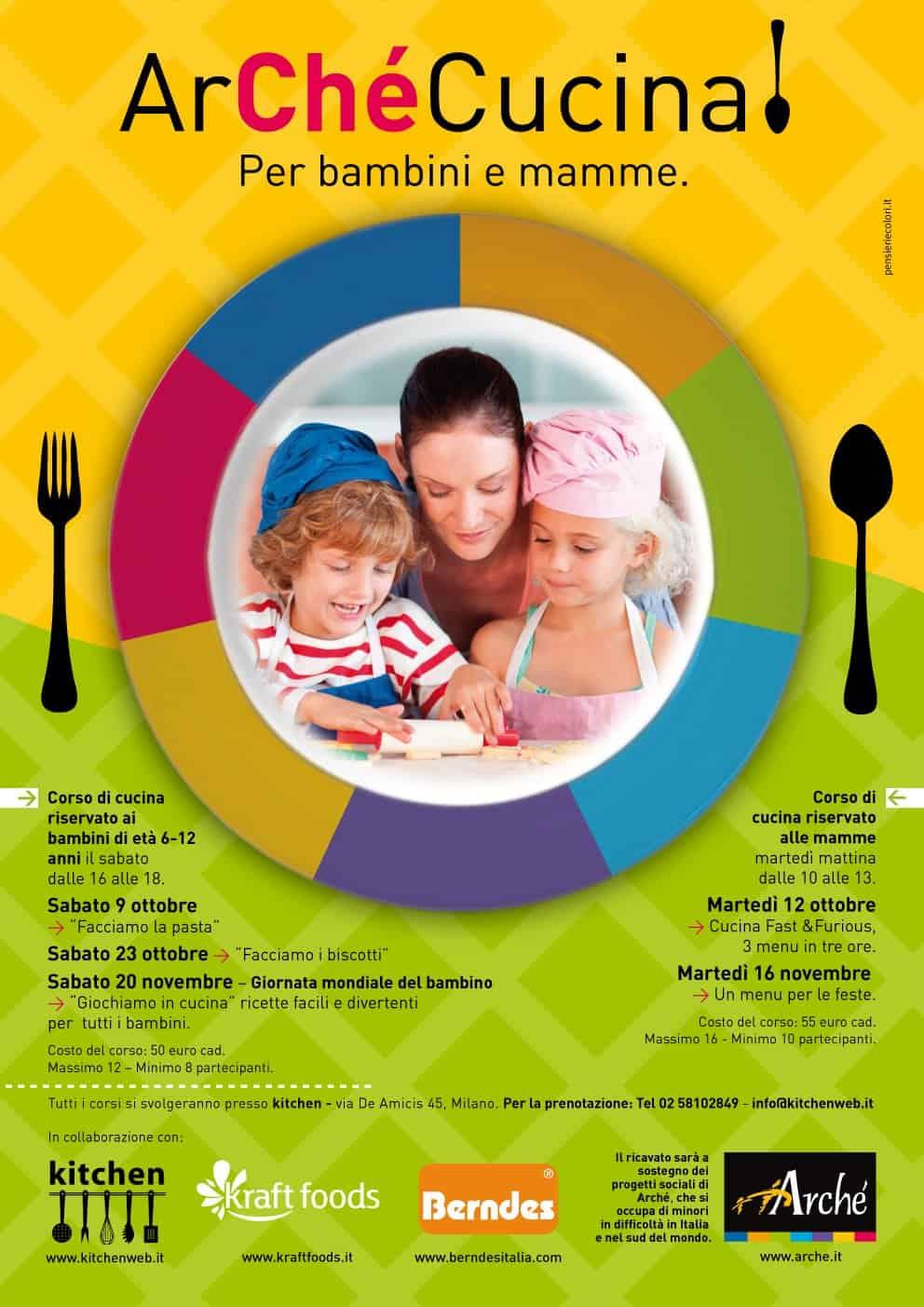 Arch arch cucina per bambini e mamme for Corsi di cucina per bambini