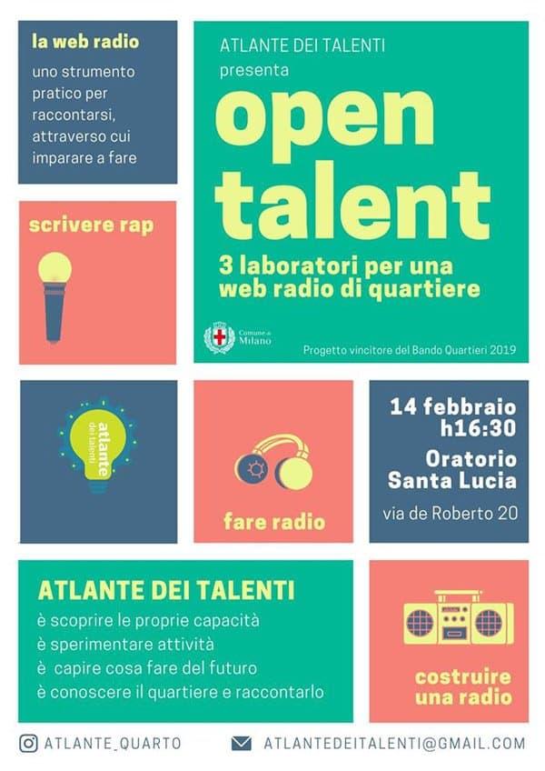 """Quarto Oggiaro: tre laboratori creativi per i giovani con il progetto """"Atlante dei Talenti"""" di Fondazione Arché"""