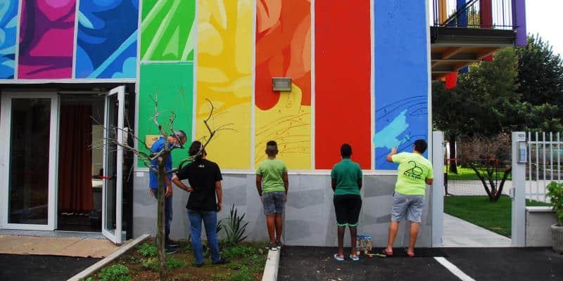 inaugurazione murale