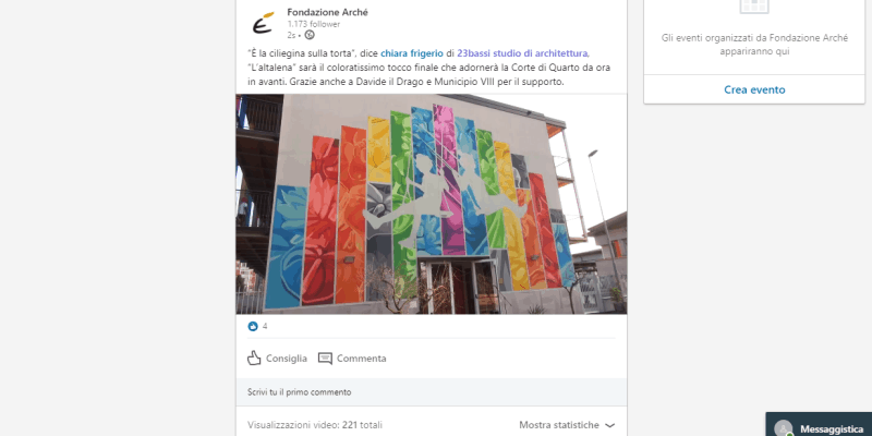 I cinguetii di Fondazione Arché